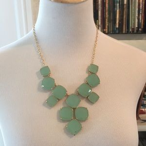 NWOT Kate Spade Statement Necklace in gold/ mint